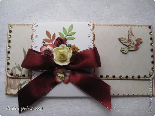 """конверты для денег """"бежевые"""" фото 2"""