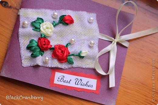 Мини-открыточка. Внутри резной карманчик с листочком для пожеланий. фото 2