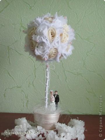 Дорогие мастерицы, представляю вам еще одно свадебное дерево.  фото 1