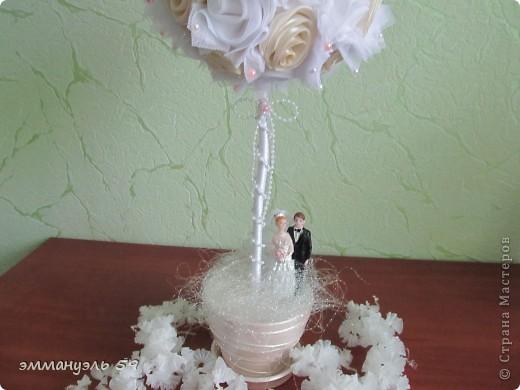 Дорогие мастерицы, представляю вам еще одно свадебное дерево.  фото 3