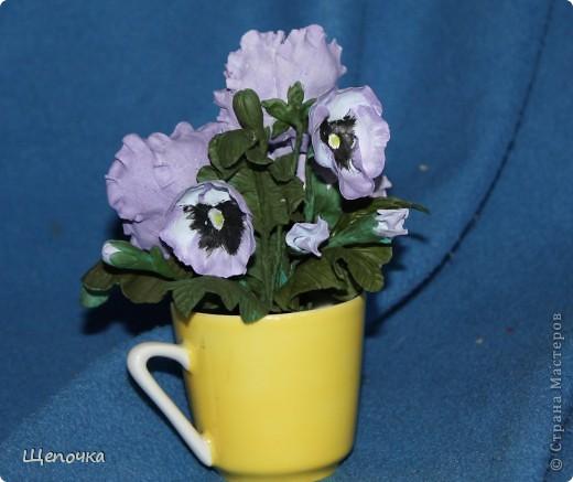 """тиных глазок"""". Очень люблю эти цветочки. Подарок на 8 марта коллеге. фото 4"""