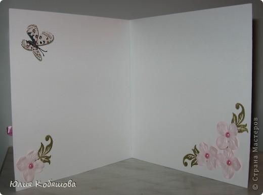 Вчера вечером родилась вторая (розовая) открытка для девочки Саши, первую я показывала здесь http://stranamasterov.ru/node/386809, как и в первой открытке, основными элементами стали: куколка в 3D и цветы (все как заказывали). фото 5