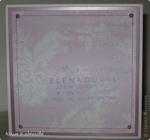 Вчера вечером родилась вторая (розовая) открытка для девочки Саши, первую я показывала здесь http://stranamasterov.ru/node/386809, как и в первой открытке, основными элементами стали: куколка в 3D и цветы (все как заказывали). фото 6