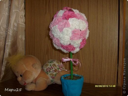 Деревце из салфеток с маленьким кубанькой в подарок на день рождение фото 1
