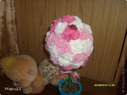 Деревце из салфеток с маленьким кубанькой в подарок на день рождение фото 2