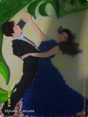 Здравствуйте Страна Мастеров!!! Хочу показать вам, свою новую работу. Пара,танцующая вальс.Формат А4. фото 2