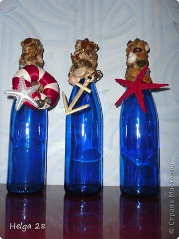 декор бутылки