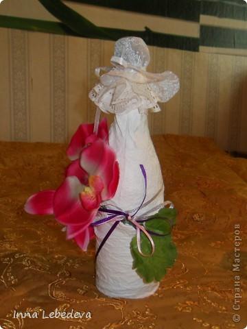 Свадьба - это праздник!!!  А к празднику готовиться - одно удовольствие. Вот сотворила для  молодых небольшой наборчик. Решила поэкспериментировать с орхидеями и фиалками.  фото 3