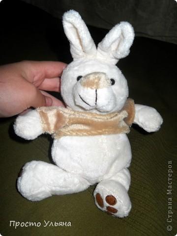 Всем здравствуйте)Сейчас покажу вам моего зайца который сшился недавно)) Вот и он : фото 1