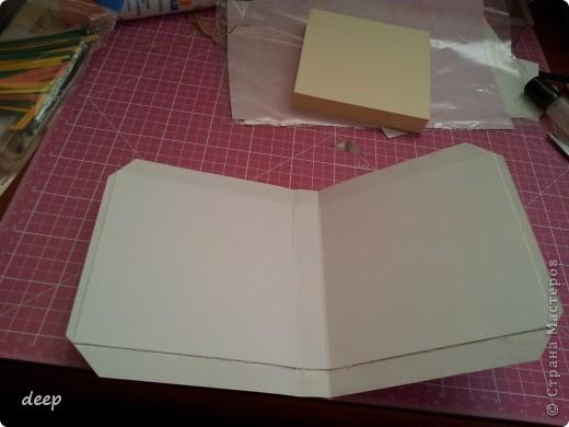 """Это мой первый мастер-класс, вернее даже просто """"репортаж"""" о том как я бысто и дешево делаю блоки для записей. Я использую для блоков разные материалы - остатки от предыдущих работ просто потому что не люблю выбрасывать ни сантиметра бумаги =) фото 12"""