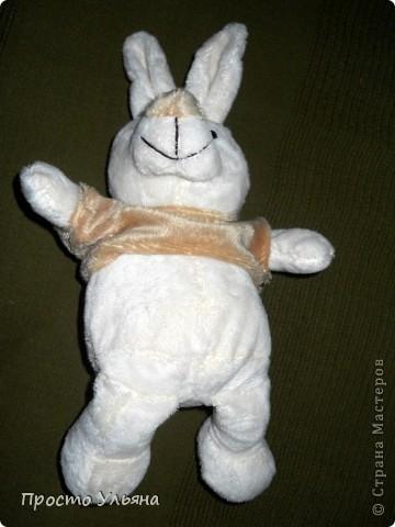 Всем здравствуйте)Сейчас покажу вам моего зайца который сшился недавно)) Вот и он : фото 4