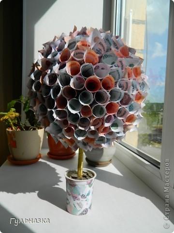 Вот такое дерево получилось в подарок на юбилей. фото 2