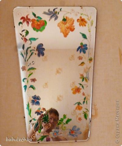 Зеркало большое овальное,роспись акриловыми красками. фото 4