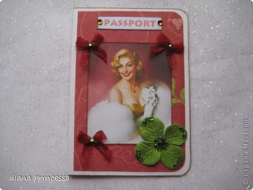 "обложка на паспорт ""гламур"" фото 2"