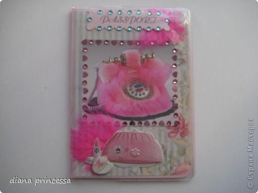 "обложка на паспорт ""гламур"" фото 1"