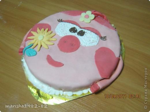 Доброго всем времени суток!!! Я опять с тортиками...Заказали тортик на крещение маленькой девочки и вот на просторах нашей страны я увидела тортик с ангелочками и вот что у меня получилось... фото 8
