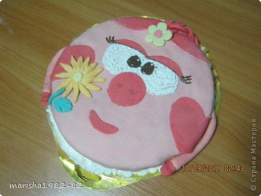 Доброго всем времени суток!!! Я опять с тортиками...Заказали тортик на крещение маленькой девочки и вот на просторах нашей страны я увидела тортик с ангелочками и вот что у меня получилось... фото 9