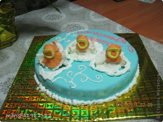 Доброго всем времени суток!!! Я опять с тортиками...Заказали тортик на крещение маленькой девочки и вот на просторах нашей страны я увидела тортик с ангелочками и вот что у меня получилось... фото 6