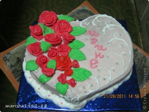 Доброго всем времени суток!!! Я опять с тортиками...Заказали тортик на крещение маленькой девочки и вот на просторах нашей страны я увидела тортик с ангелочками и вот что у меня получилось... фото 12