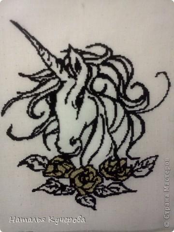 Вышивка крестом Единорог