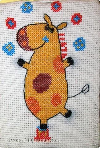 Жирафик и лоршадка (мини вышивка) + схемы фото 3