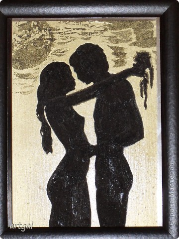 Картина выполнена песком.  фото 2