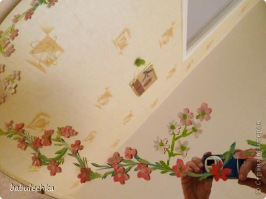 Зеркало большое овальное,роспись акриловыми красками. фото 3