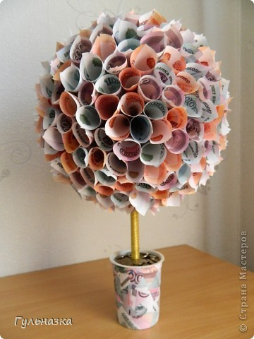 Вот такое дерево получилось в подарок на юбилей. фото 1