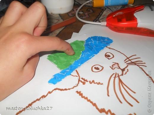 Кот на осле рисунок