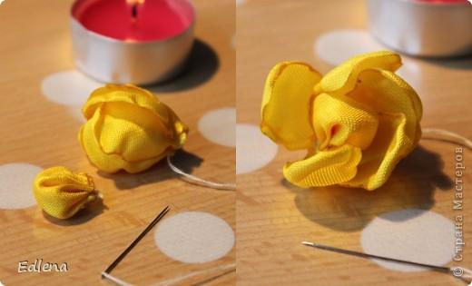 Делаем розу из ленты. (подобного мк не нашла на сайте,если это не так прошу меня поправить) фото 10