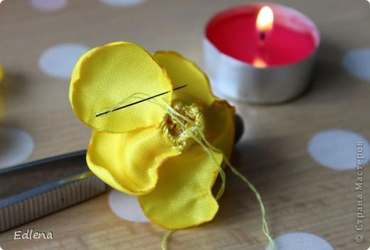 Делаем розу из ленты. (подобного мк не нашла на сайте,если это не так прошу меня поправить) фото 11