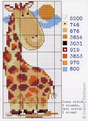 Жирафик и лоршадка (мини вышивка) + схемы фото 4