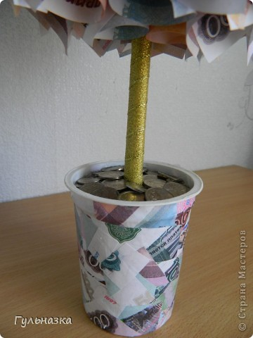 Вот такое дерево получилось в подарок на юбилей. фото 4