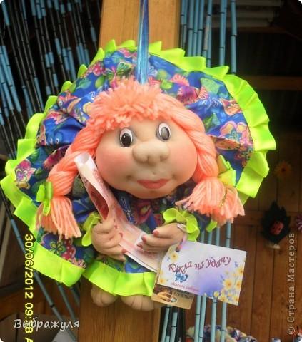 Вот таких кукол нашила на июньскую ярмарку. Шью теперь на даче. Совсем мало куклёш удаётся шить. Совмещать работу, дачу , кукол и внуков тяжеловатоооооо. Поэтому уже что уж есть. Вот такие девчонки. фото 2