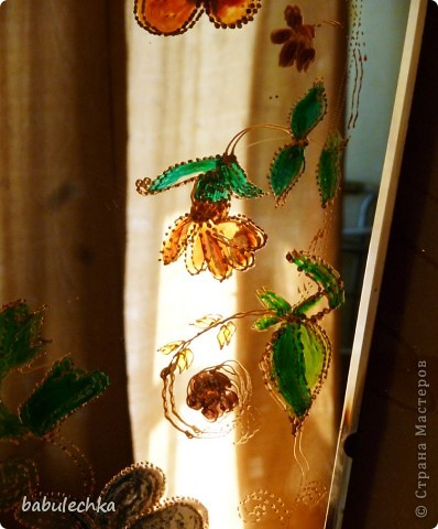 Зеркало большое овальное,роспись акриловыми красками. фото 6