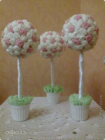Эти чудесные деревья сделала по МК вот этих Мастериц: n-eonila http://stranamasterov.ru/node/79625?c=favorite_c и Олисандра http://stranamasterov.ru/node/152143. Спасибо огромное! ))))  фото 1
