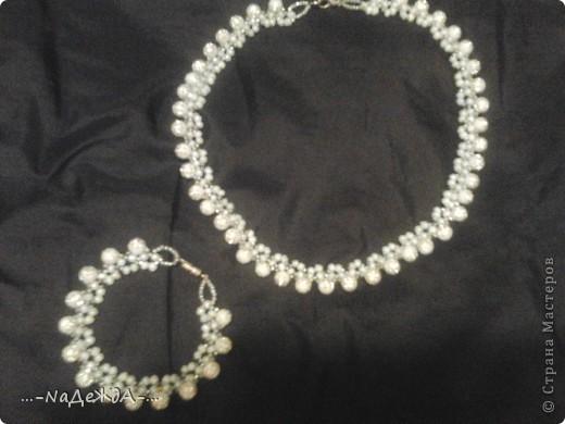 Вот это моё ожерелье. Идею я поймала здесь, но немного изменила, так как у меня были под рукой бусины разного размера. Извините заранее за плохое качество фотографий, снимала на телефон и отбирала самое лучшее... фото 1