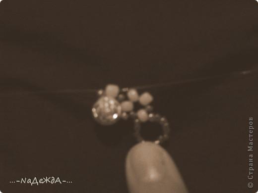 Вот это моё ожерелье. Идею я поймала здесь, но немного изменила, так как у меня были под рукой бусины разного размера. Извините заранее за плохое качество фотографий, снимала на телефон и отбирала самое лучшее... фото 5