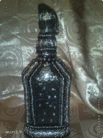 Вот такая бутылочка у меня получилась, вид с переди. фото 2