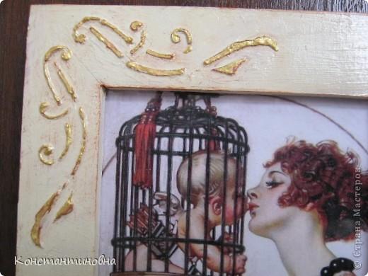 рамка Икеевская,шпатлевка,кракелюр,распечатка. фото 3