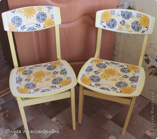 Продолжаю благоустраивать дачу. Вот такие стульчики у меня получились из стульев советских времен.  фото 1