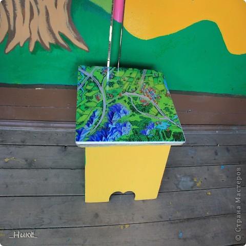 Покрасить веранду в детском саду? Легко! Если подойти творчески к этому процессу, получится вот такая красота! фото 12