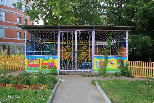 Покрасить веранду в детском саду? Легко! Если подойти творчески к этому процессу, получится вот такая красота! фото 1