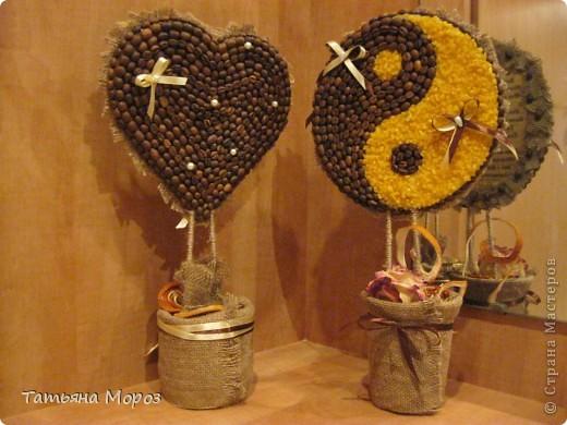 Вот такая кофейная ЛЮБОФФФФ ....Сердце и символ Инь-Ян фото 1