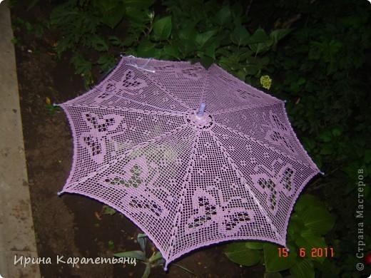 Зонтик для невесты, авторская работа, связано вручную в одном экземпляре, диаметр купола до 100см фото 9