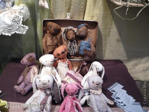 Доброго времени суток всем жителям Страны!В июне в нашем городе проходила выставка кукол и  других видов рукоделия.Немножечко поздно,но все же выкладываю фото с этой выставки,и заранее прошу прощения за качество.Это работы мастера по фелтингу. фото 7