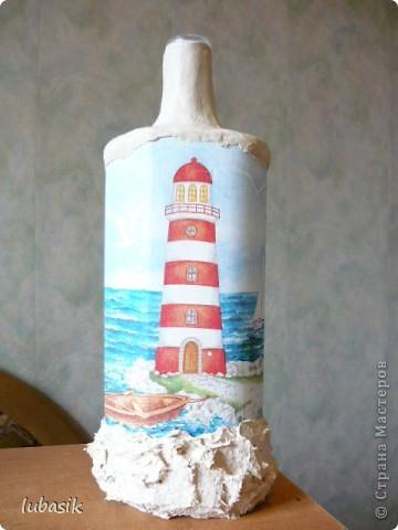 Вот и доделала Я свою третью морскую бутылочку. Показываю вам результат. Простите, но фоток будет много. Сама люблю рассмотреть все детали как следует. фото 11