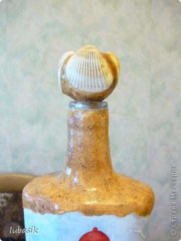 Вот и доделала Я свою третью морскую бутылочку. Показываю вам результат. Простите, но фоток будет много. Сама люблю рассмотреть все детали как следует. фото 7