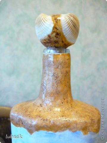 Вот и доделала Я свою третью морскую бутылочку. Показываю вам результат. Простите, но фоток будет много. Сама люблю рассмотреть все детали как следует. фото 8