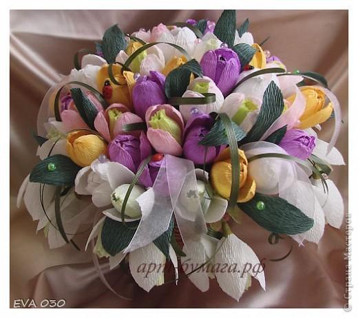 Эту работу я делала на заказ, по приблизительным подсчетам получилось около 60 цветочков, крокусы и подснежники. фото 2